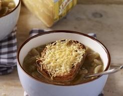 Gratinierte Zwiebelsuppe mit Käse